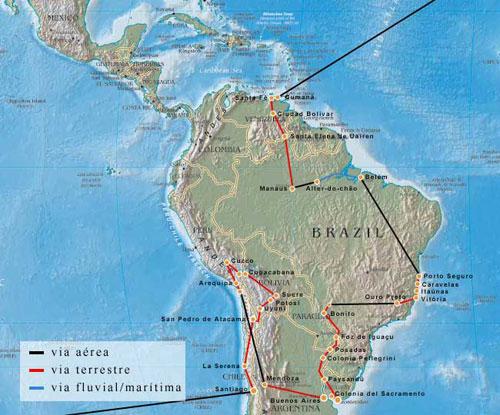 Maršrutas visame pasaulyje - Pietų Amerika