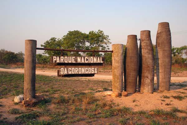 Entrada do Parque Nacional da Gorongosa, em Moçambique
