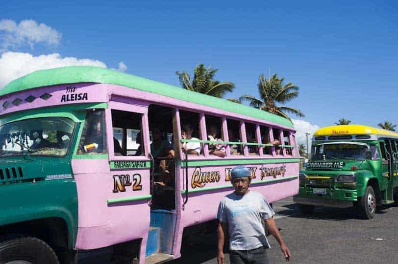 Autobús a Apia, Samoa