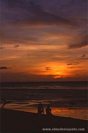 Pôr-do-sol nas dunas de Jericoacoara