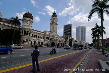 Edifício Sultan Abdul Samad, em Kuala Lumpur