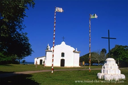 Kirkja á miðju torginu í Trancoso