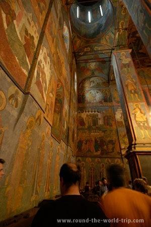 Catedral da Anunciação, outra das belas catedrais existentes no Kremlin de Moscovo, Rússia