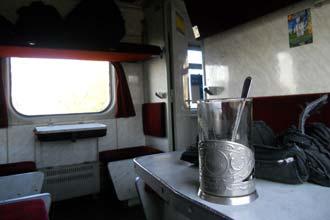 A bordo di un treno ucraino
