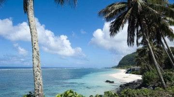 Lalomanu, južno od Upolua, Samoa