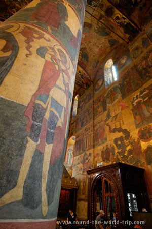 Frescos na catedral do Arcanjo Miguel