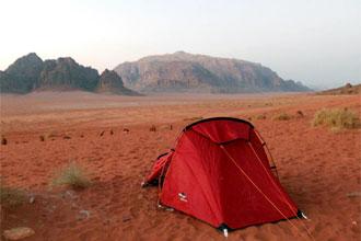 Campeggio a Wadi Rum, in Giordania