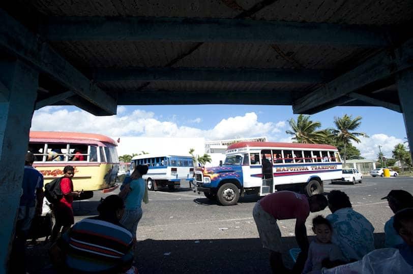 Terminal d'autobusos Apia, capital de Samoa