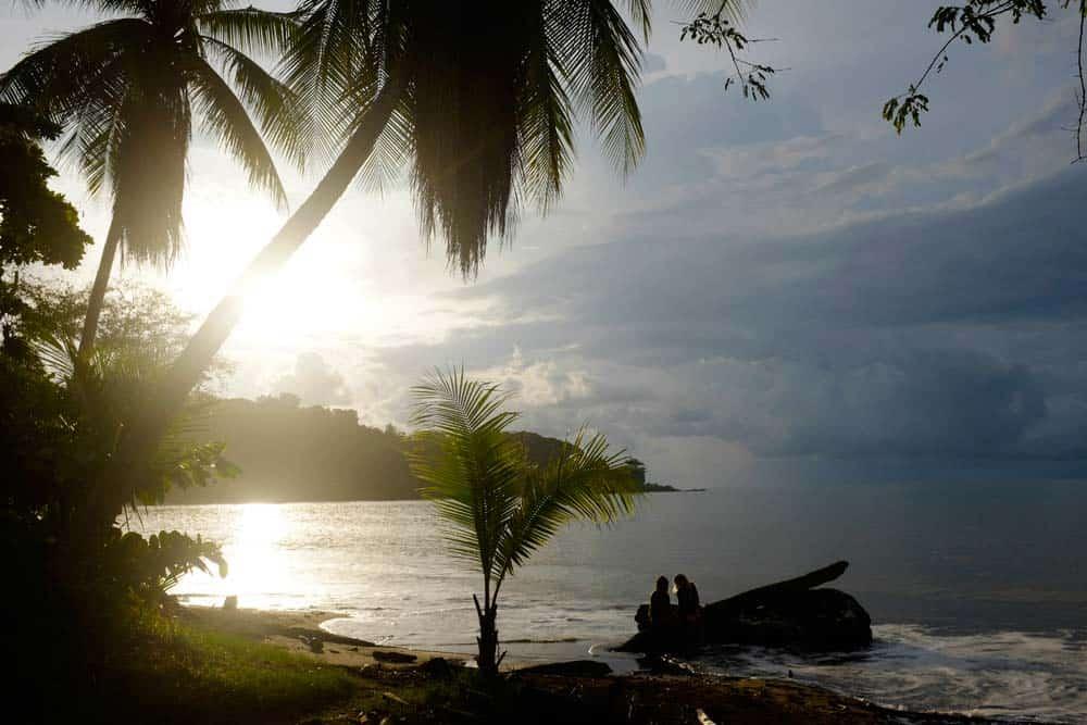 Entardecer em Drake Bay, na Costa Rica