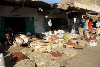 Mercato di strada a Kassala, in Sudan