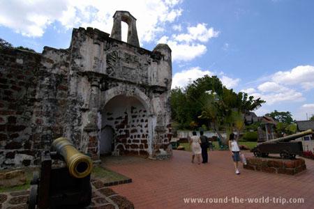 Porta de Santiago, antiga fortaleza portuguesa, Malaca