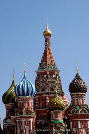Catedral de S. Basílio, Praça Vermelha de Moscovo