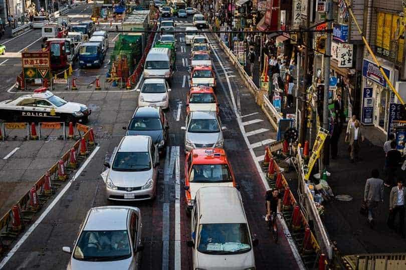 Trânsito em Shibuya, Tóquio