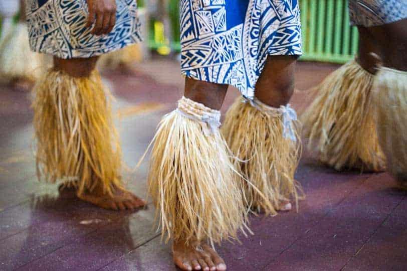 Detall de roba tradicional samoana