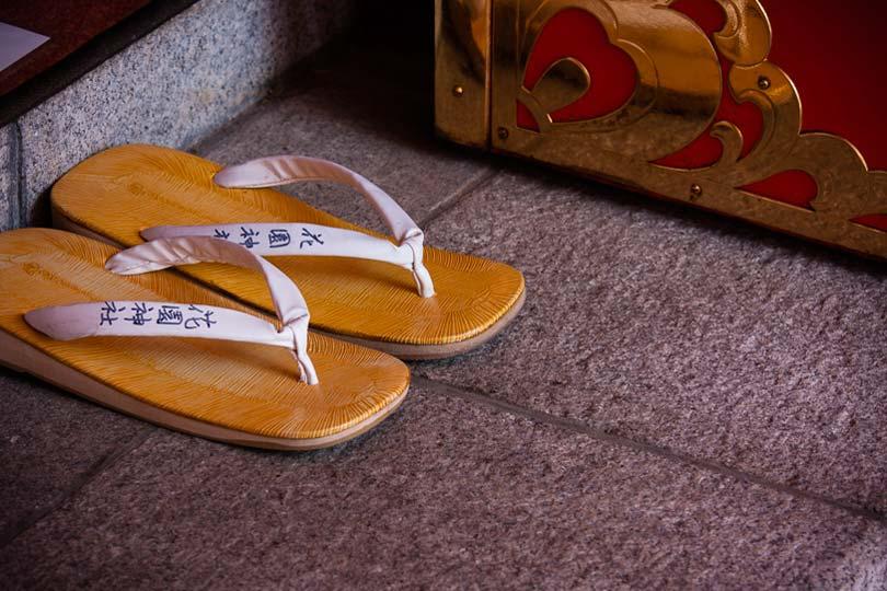 Sandálias num templo budista, Shinjuku
