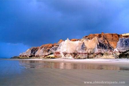 Falésias vista da praia de Morro Branco