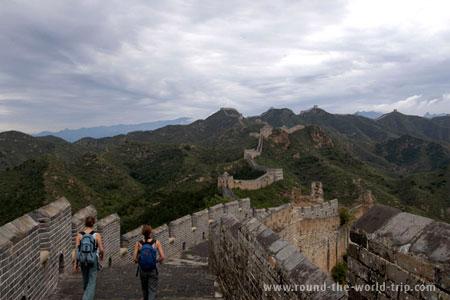 Grande Muralha da China, algures entre Jinshanling e Simatai