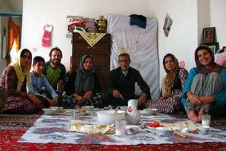 Hospitalidade de uma família iraniana