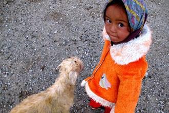 Criança no Tajiquistão