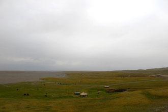Paisagem rural do Quirguistão