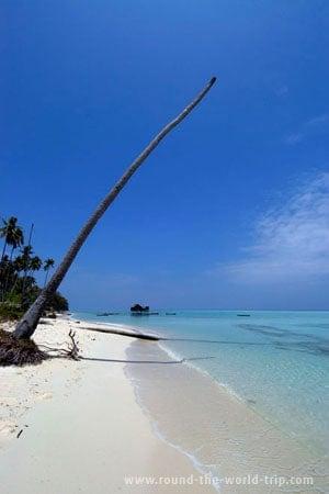 Minúscula ilha ao largo de Semporna, Bornéu