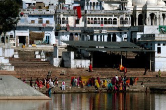 Peregrinos em Pushkar