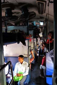 Vida a bordo de um comboio indiano