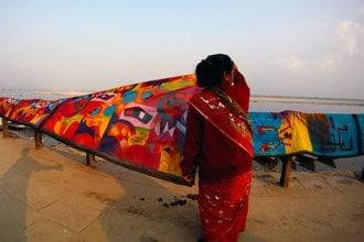 Cor no rio Ganges
