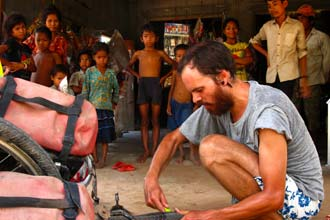 Um furo no Camboja profundo