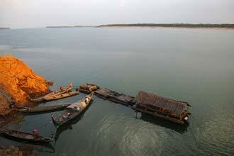 Sunset á Mekong River