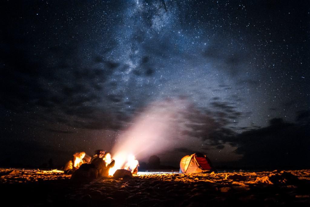 在Tsiribihina河畔的夜晚