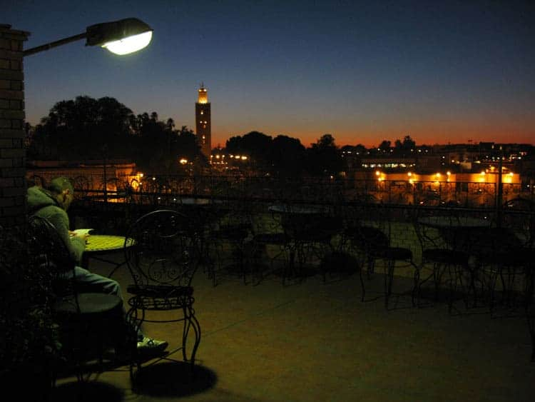 Café Glacier, praça Jemaa-el-Fna