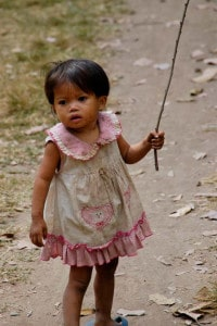Aldeia próxima de Angkor Wat, Camboja