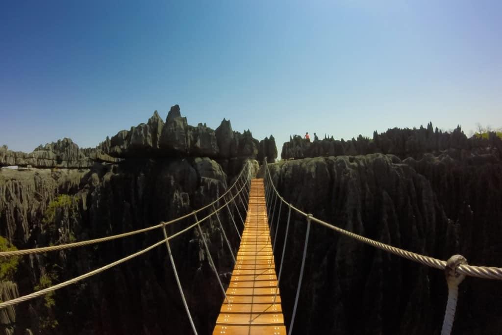 Ponte suspensa do Parque Nacional Tsingy