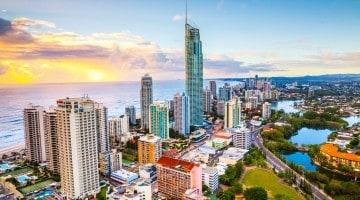 A Gold Coast em timelapse