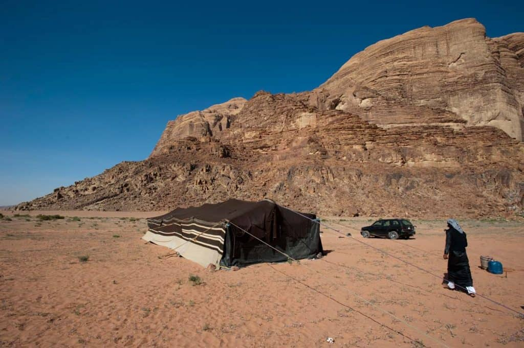 Acampamento em Wadi Rum, Jordânia