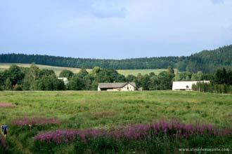 Aldeia na região de Adrspach, República Checa