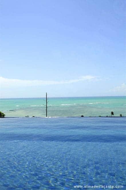 Viagens Alagoas: Vista a partir da piscina da Pousada do Alto, Japaratinga