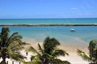 Vista da Barra de São Miguel a partir do Hotel Village Barra, Alagoas