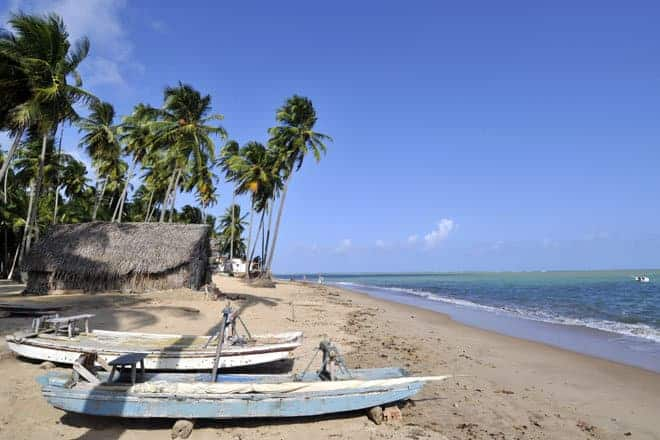 Casa de pescadores na praia de Barreiras