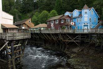 Staðsetning Ketchikan, Alaska