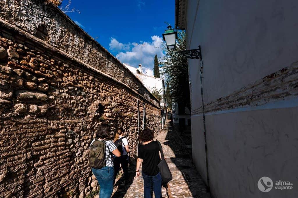 Tourists in Albaicín, Granada