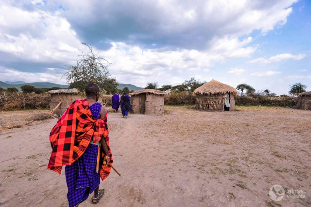 Visiteu un poble de Maasai