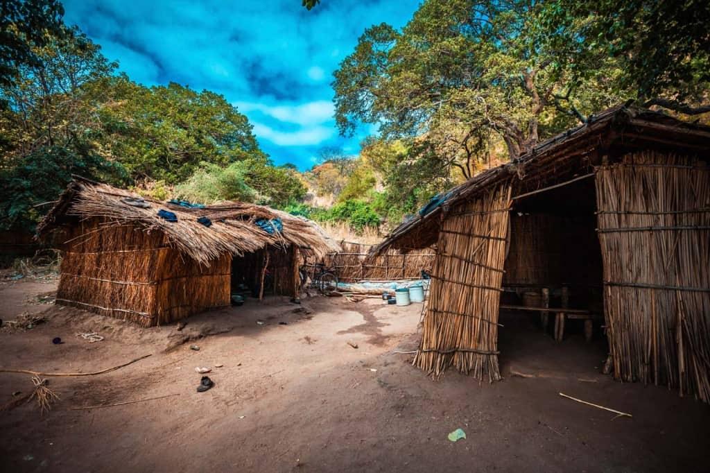 Aldeia no Malawi
