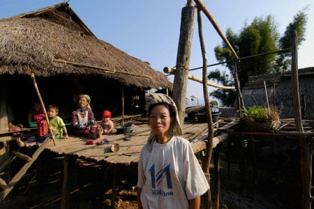 Aldeia perto de Chiang Mai, Tailândia