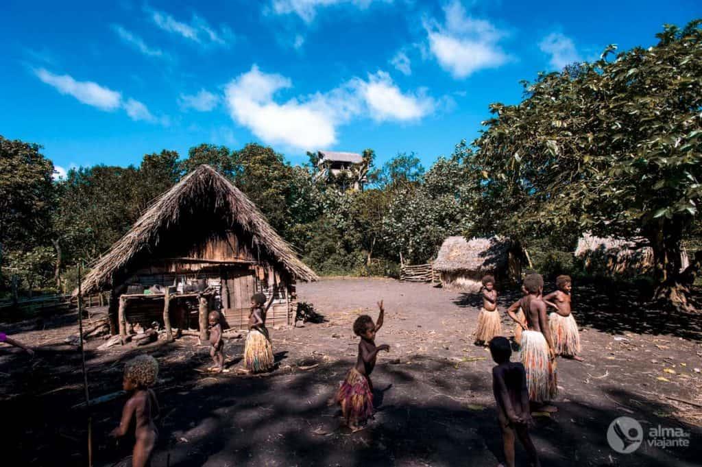 Yakel, kaimas Tanna saloje, Vanuatu