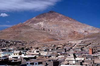 Minas de Cerro Rico, em Potosí