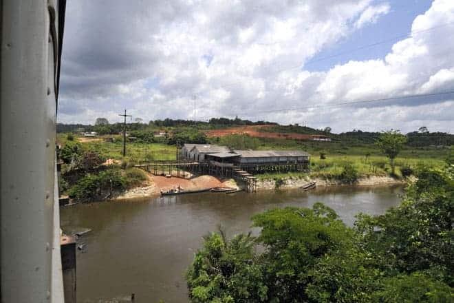 De comboio rumo a Serra do Navio