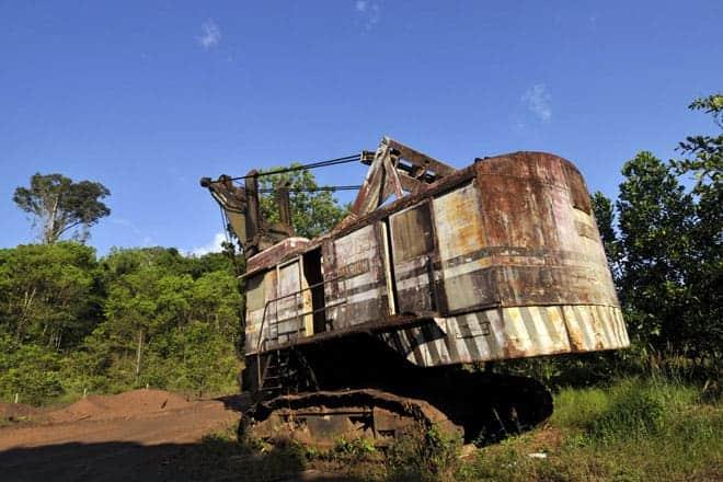 Resquícios da época de ouro das minas de manganés, Serra do Navio