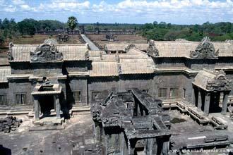 Vista de Angkor Wat, Camboja